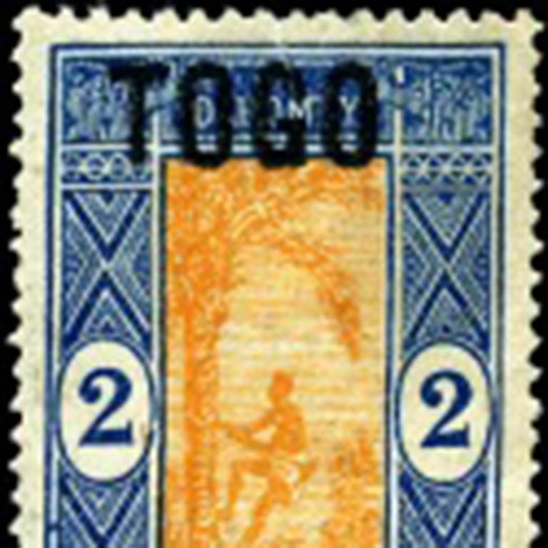 Image of francophone-related stamp.