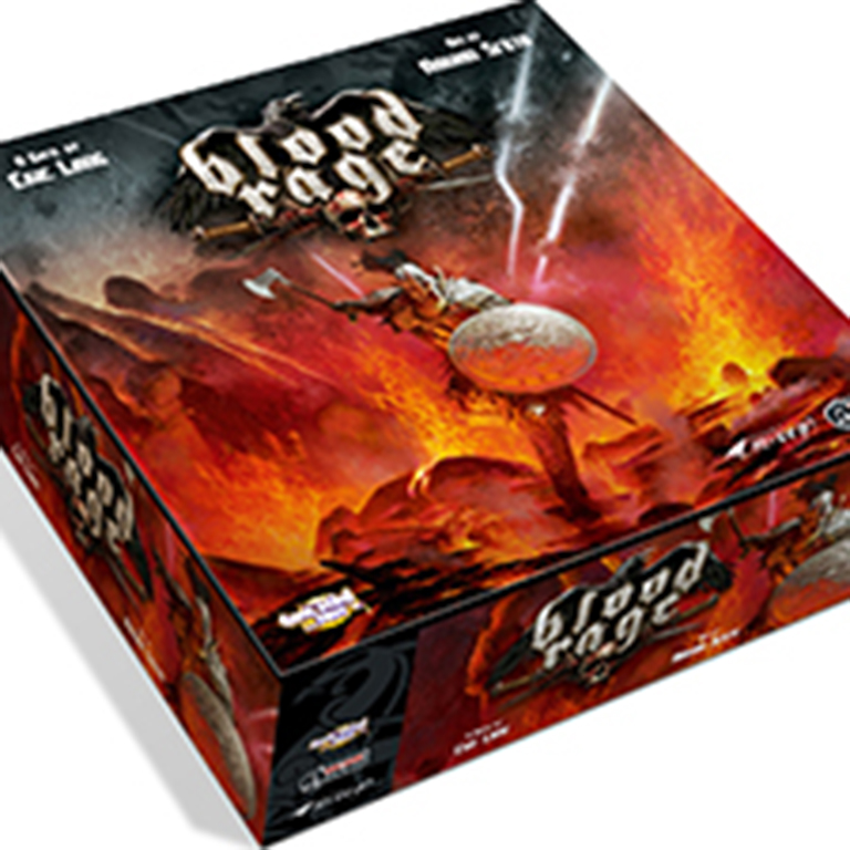 Image of Blood Rage board game box.