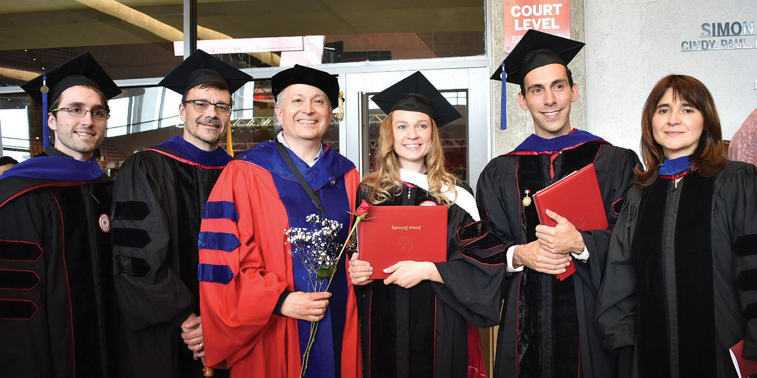 Department of French and Italian graduates.