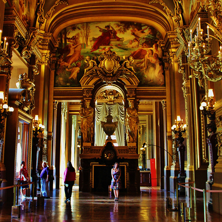 Image of an opera house in Paris, France.